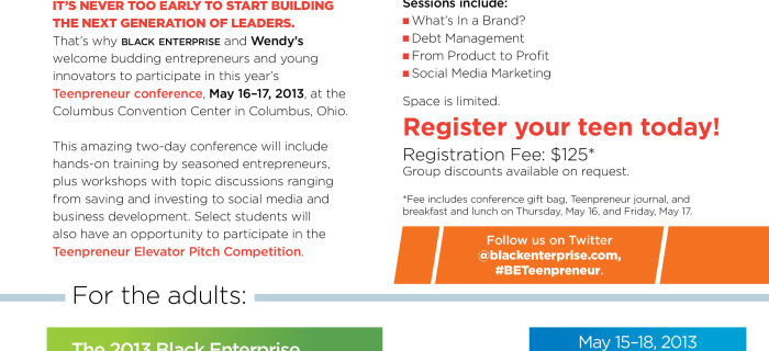 Send your dghtr to Teenpreneurs this year!  Scholarships available.