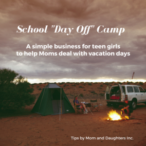 When you are a busy Mom trying to schedule school vacation days, it's tough. So reach out to a responsible teen or college age student and give them this inspirational idea.