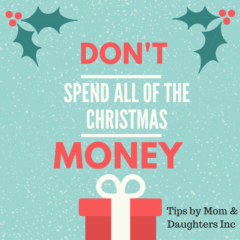 Did you spend ALL the Christmas gift money?